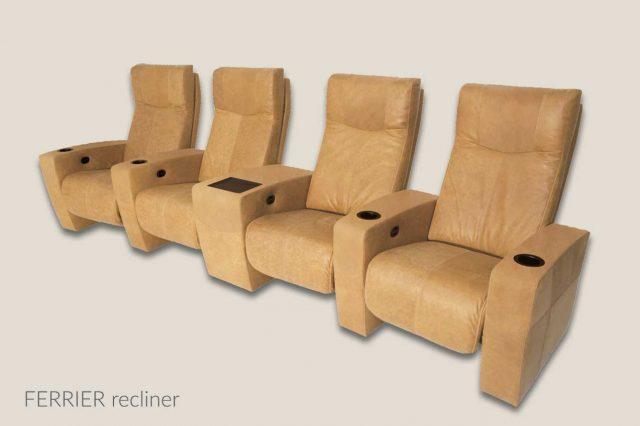 Ferrier model Cineak leather upholstery