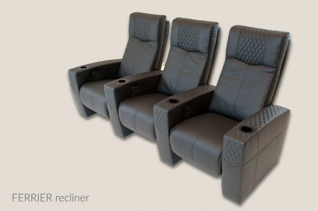 Ferrier recliner home theater seating