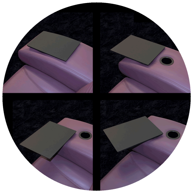 Sliding + rotating table