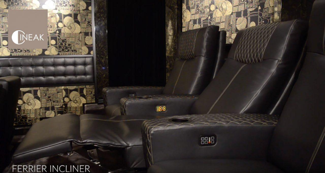 Ferrier Incliner - 3way motorised mechanism luxury home theater sofa