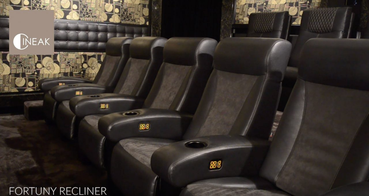 Fortuny Recliner - 3way motorised mechanism, luxury Home Theater seat