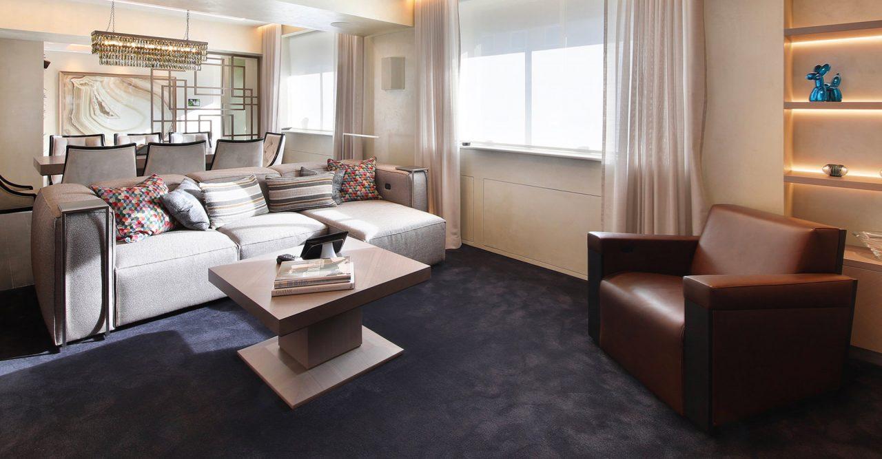 Homeplay - mediaroom luxury seating gramercy design sofa
