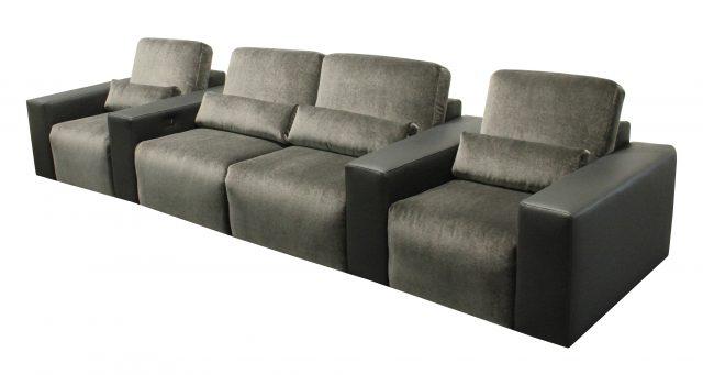 Largo Media room Cinema theater seat modern row combined upholstery