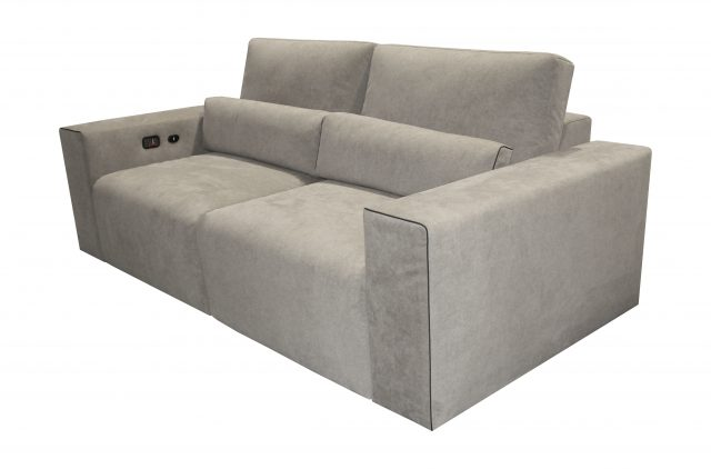 Largo Media room Cinema theater seat modern sofa grey