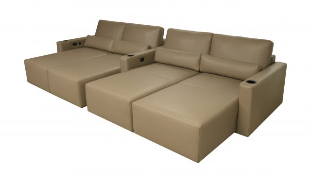 Largo Media room Cinema theater seat modern lounge chaise beds