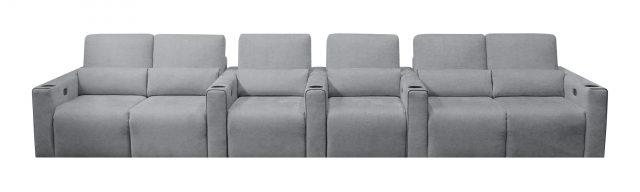 Largo Media room Cinema theater seat modern grey row