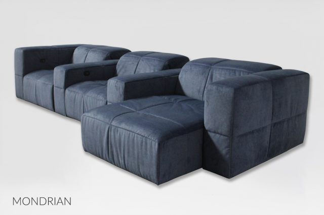 Mondrian luxury design sofa for home theater