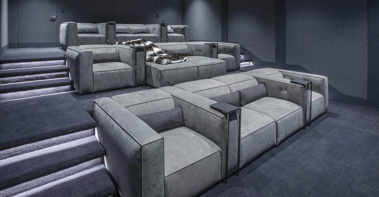 3 row luxury home cinema theater with luxury Cineak