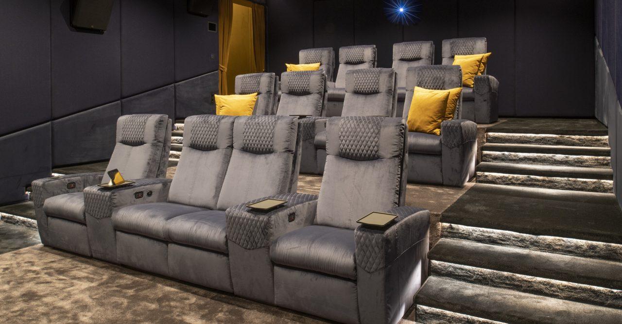 Luxury Home cinema with Ferrier seating. Roland Koller Signature Design cineak