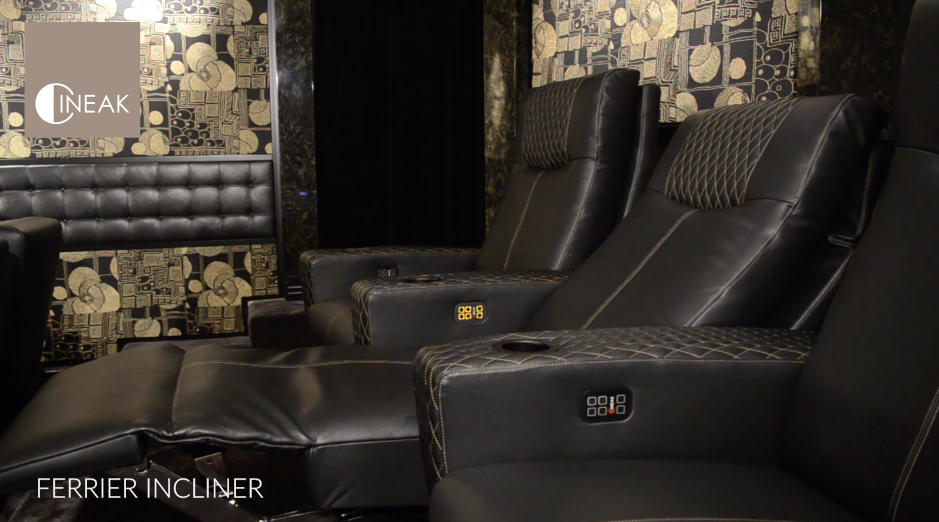 Ferrier Luxury home theater seat automated