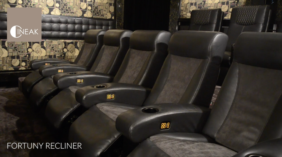 Cineak's Fortuny recliner automated