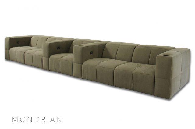 Media room Gramercy sofa cinema by Cineak