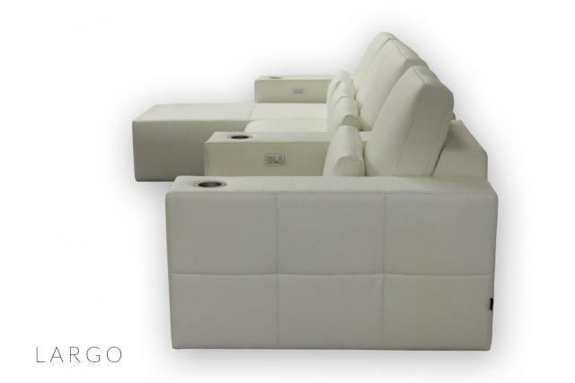 Custom Home cinema seat - luxury leather cineak