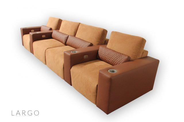 Luxury home cinema seat with custom diamond stitching
